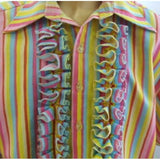 "1960s Candy Stripe Fancy dress ~ Hire ~ Size 46"" Chest"