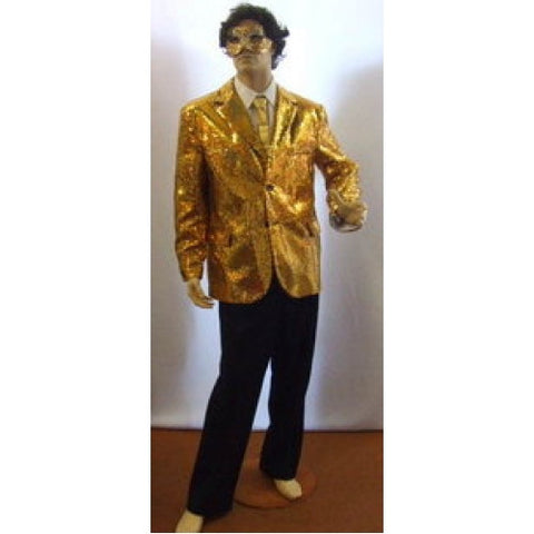 Gold Sequinned Compere Jacket   ~ Hire ~ 46