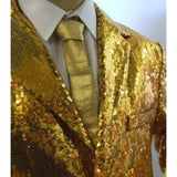 "Gold Sequinned Compere Jacket   ~ Hire ~ 46"" ~ 48"" chest"