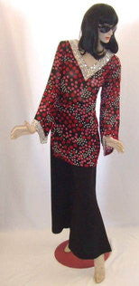 1970s Spot Top and Trousers ~ Hire ~ Size 14/16