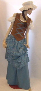 Medieval Wench  ~ Blue and Brown size 14 - 16 ~  Hire