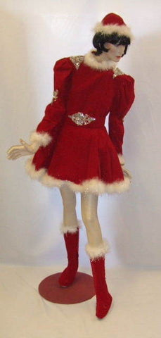 Santas Helper ~ Northern Lights Red ~ Fancy dress  Hire ~ Size 12 - 14