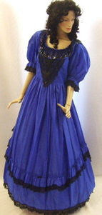 Victorian Gown ~ Royal blue evening dress ~  Hire ~ Size 16 ~ 18