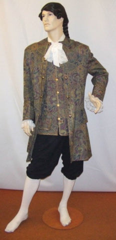 18th Century Brocade Frockcoat ~ Prince ~ Hire ~ 42
