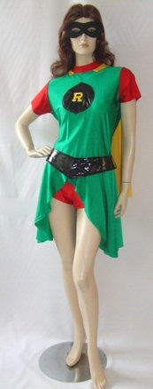 Robin costume  ~ Superhero fancy dress~ Hire ~ Sizes 10 to 16