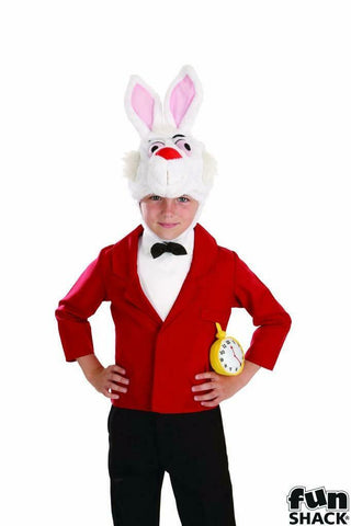 Mister Rabbit Fancy dress White Mad Alice Book Week Boys Medium Age 6 - 8