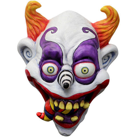 Psychedelic Clown Mask Over head  Nightmare Horror Latex Overhead Halloween