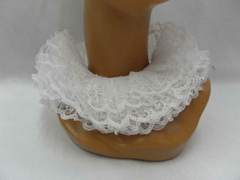 Elizabethan Collar / Ruff Medieval Shakespeare Renaissance White lace