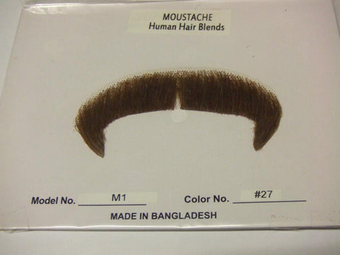 Hand Made Moustache M 1 English Villain 27 red brown Blend
