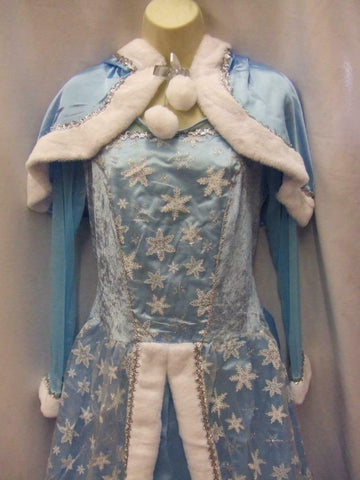 Frozen Snow Queen Fancy Dress Book Week Fairy tale Hire quality Size 10 - 12