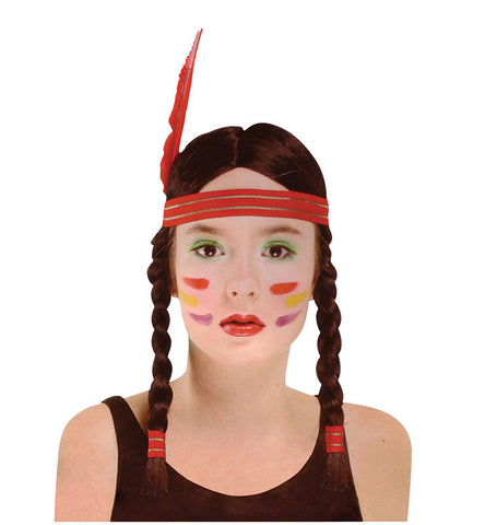 Squaw Wig Tigerlilly Native American Indian girl