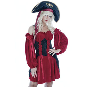 Captains Wench Pirate Fancy Dress World book day  small  size 10 - 12