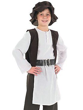 Tudor Boy Kitchen Staff Medieval Servant  ~ Boys Large Age 8 - 10