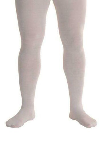 Mens White Tights XL one size pantomime medieval 18th century cotton mix
