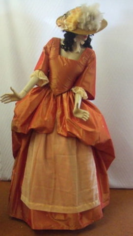 18th Century Gown  ~ Peach  ~ Hire ~  Size 14 ~ Georgian