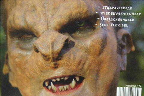 Prosthetic Troll Mask ~ Horror Prosthetic ~ Latex rubber ~ Effects make-up