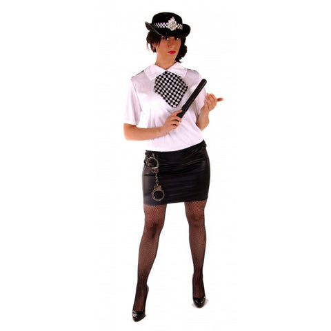 Policewoman WPC uniform 999 emergency services costume one size will fit 8 - 12