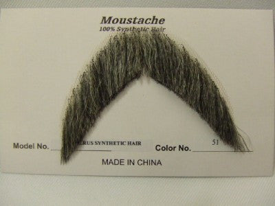 Hand Made Moustache ~ Walrus ~ 51 ~ Brown / grey ~ Human hair