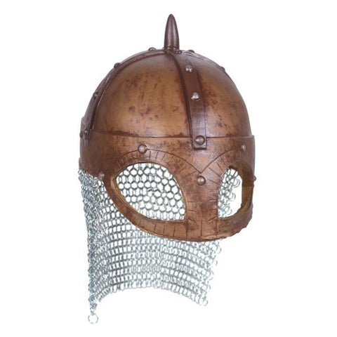 Viking Helmet Saxon Re-enactment Chain mail Warrior Latex rubber superior Quality