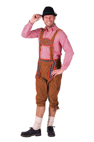 Lederhosen Swiss Boy Trousers Shorts Brown XL 40