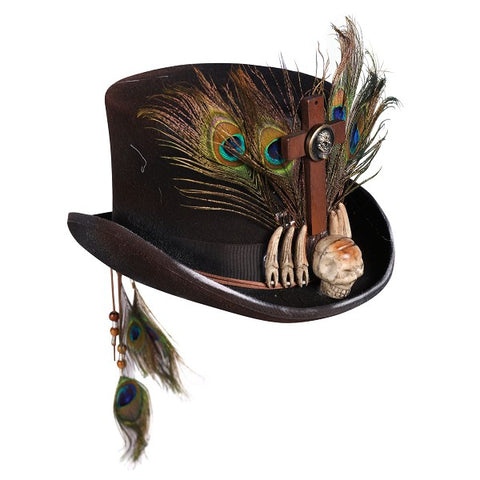 Voodoo Hat  Witch Doctor Top hat  Day of the Dead  Baron Samedi Black Magic