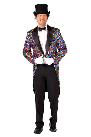 Thetru Rainbow Sequinned Tailcoat Showman Pride Circus X Large 48