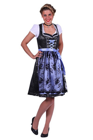 Silver Black and Blue Swiss girl Austrian Tyrolean Size 12