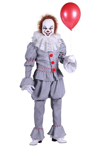 Killer Clown Costume Halloween It Horror Hire quality XL 46