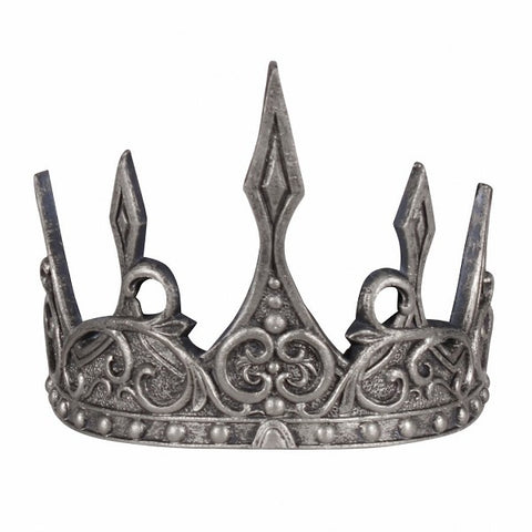 King crown silver Queen adjustable pantomime LOTR GOT Prince Princess Fairy wicked