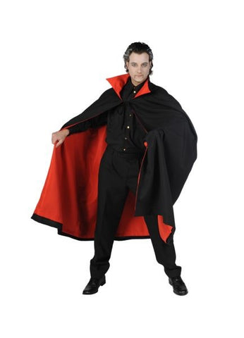 Black and Red Deluxe Cape  Halloween  140 cm long  Dracula Vampire