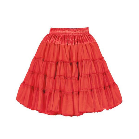 Red 2  layered petticoat theatrical quality satin waistband showgirl skirt 50s rock n roll