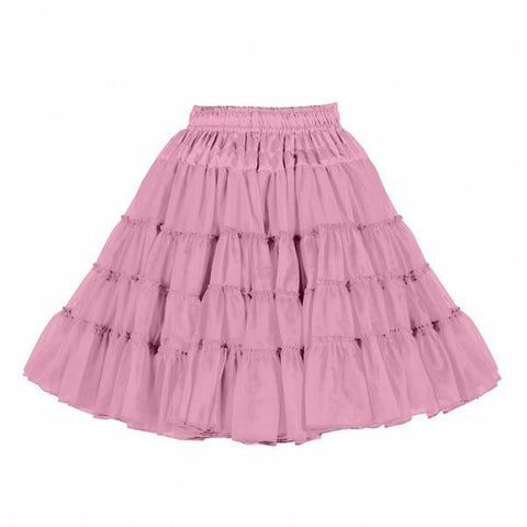 Pink 3  layered petticoat theatrical quality satin waistband showgirl skirt 50s rock n roll