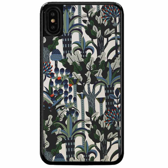 Black Garden iPhone X Case
