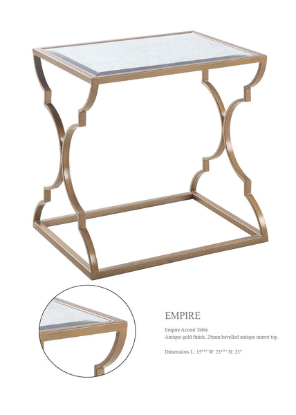 EMPIRE ACCENT Table with Mirror Top