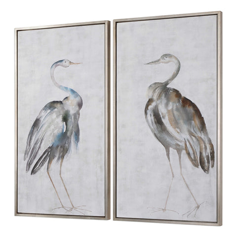 Hand Painted Pair of BIrd Paintings