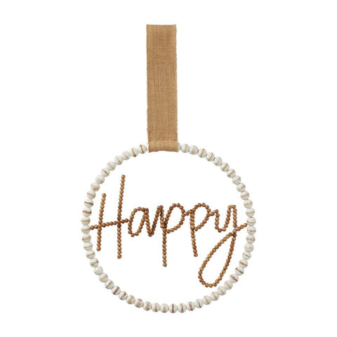 Beaded Happy Wreath