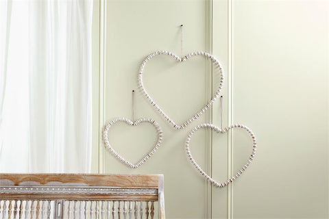 Beaded Heart Door Hanger