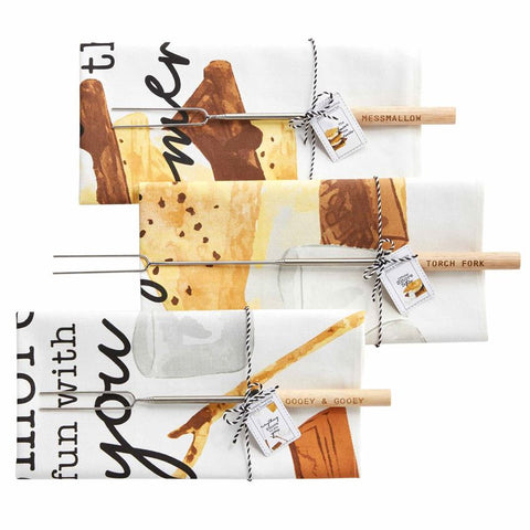 S'more Towel & Fork Set