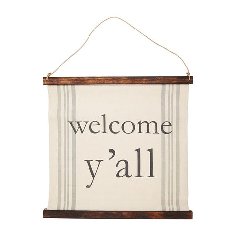 Welcome Ya'll Canvas Sign