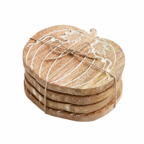 Wooden Pumpkin Coasters