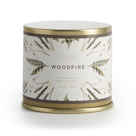 Illume Woodfire Tin Candle