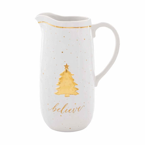 Gold Believe Pitcher