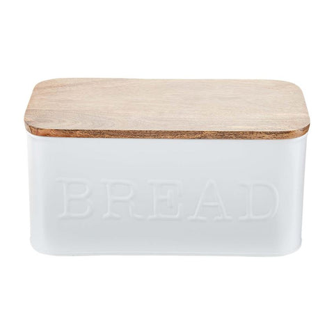 Bread Box with Wood Lid