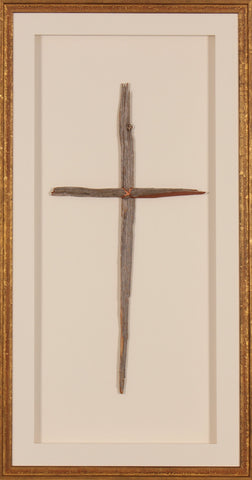 Framed Gold with Silver Cross