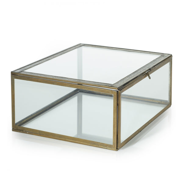 Gold Glass Display Box