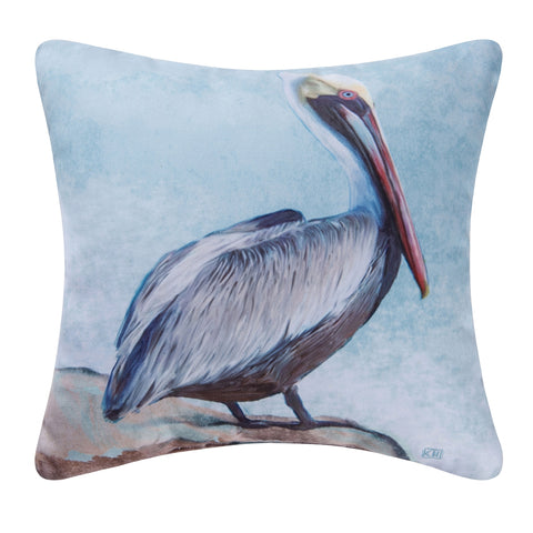 Pelican Blue Indoor/Outdoor Pillow