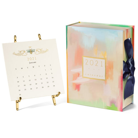Karen Adams 2021 Desk Calendar with Gold Easel