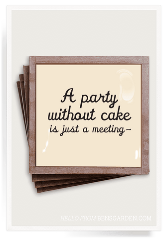 A Party Without Cake - Glass Coasters