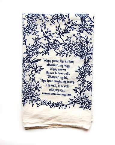 It Is Well with HYMN Tea Towel
