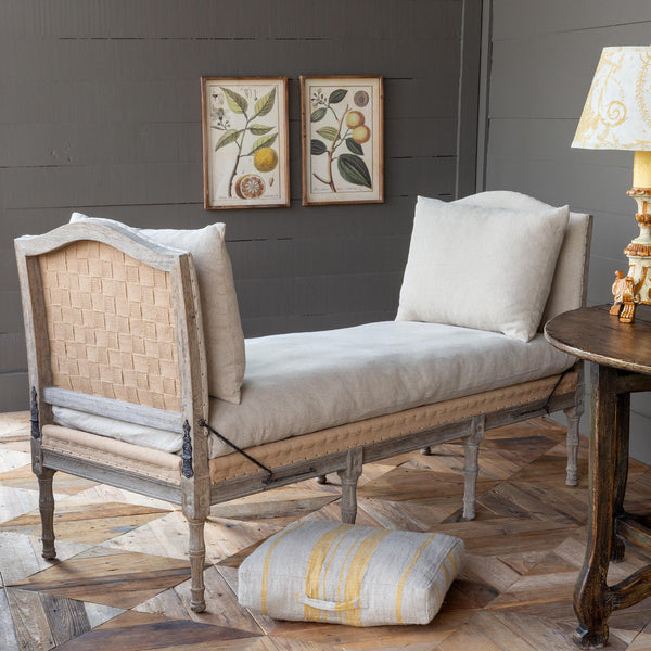 French Linen Day Bench